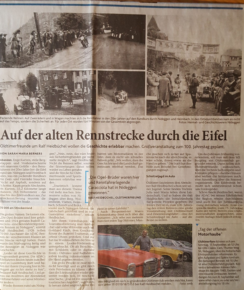 Dürener Zeitung vom 29.8.2017