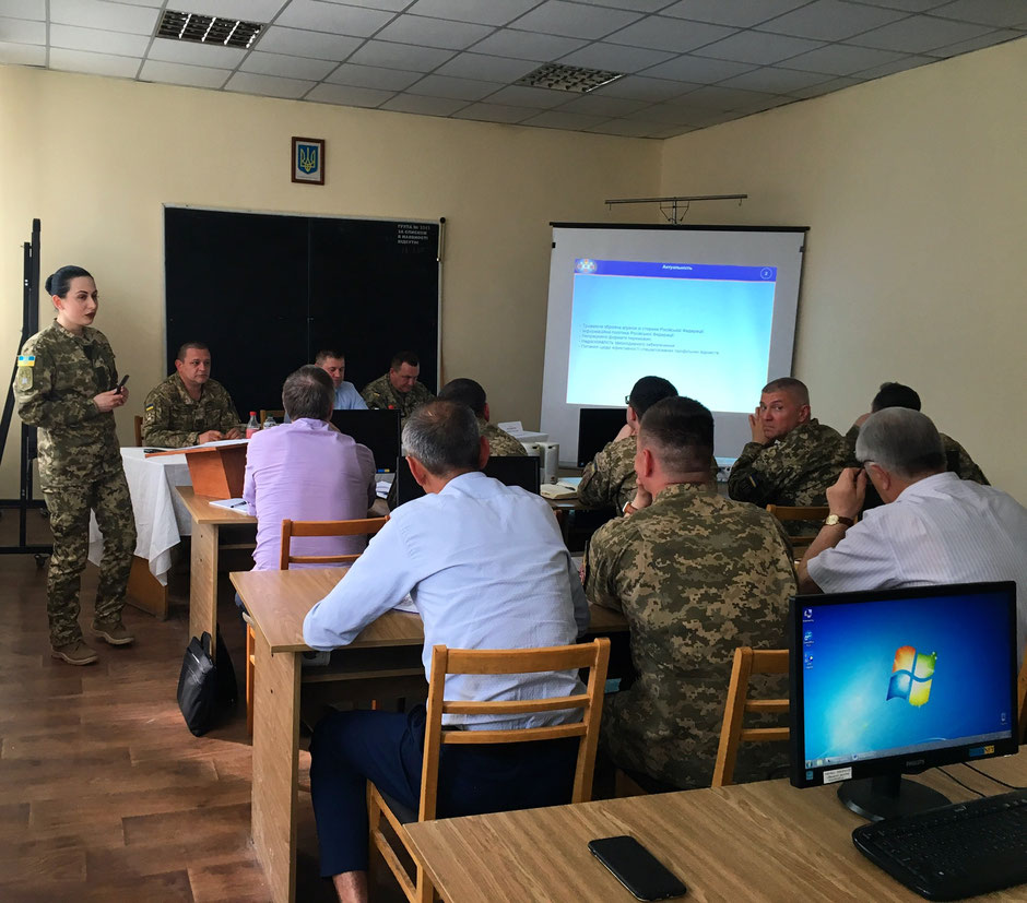 Kateryna Koval takes part in International seminar in field of Military Science (2019) ©Kateryna Koval