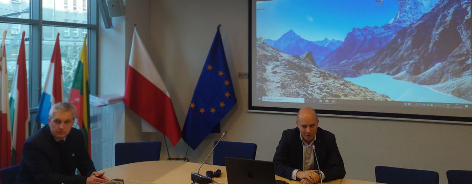 Filip Skawiński, on the right hand side, Policy Analyst right side , European Commission Representation in Poland