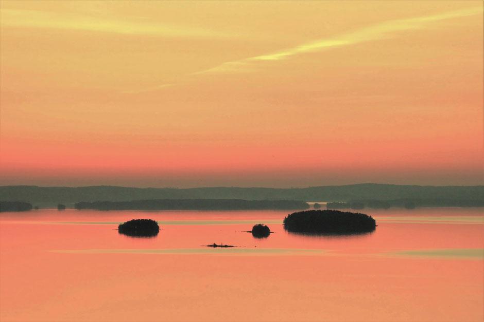 Panorama Seeblick Abendstimmung Päijänne See Nationalpark