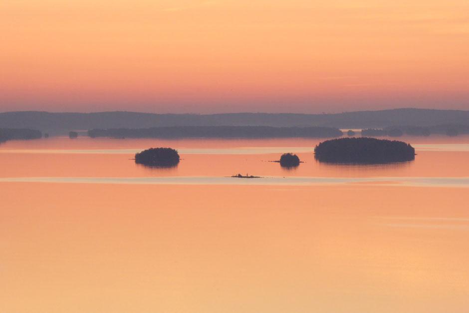 Abendstimmung am See nahe Ferienhaus Sunny Mökki Sysmä