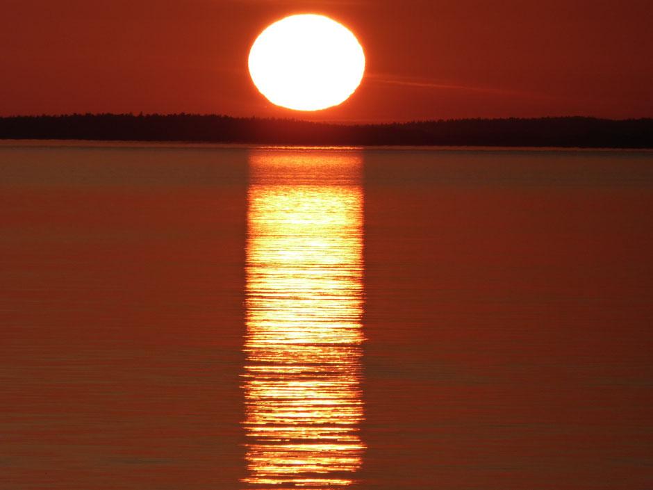 Sonnenuntergang Päijänne See Ferienhaus Sunny Mökki Sysmä