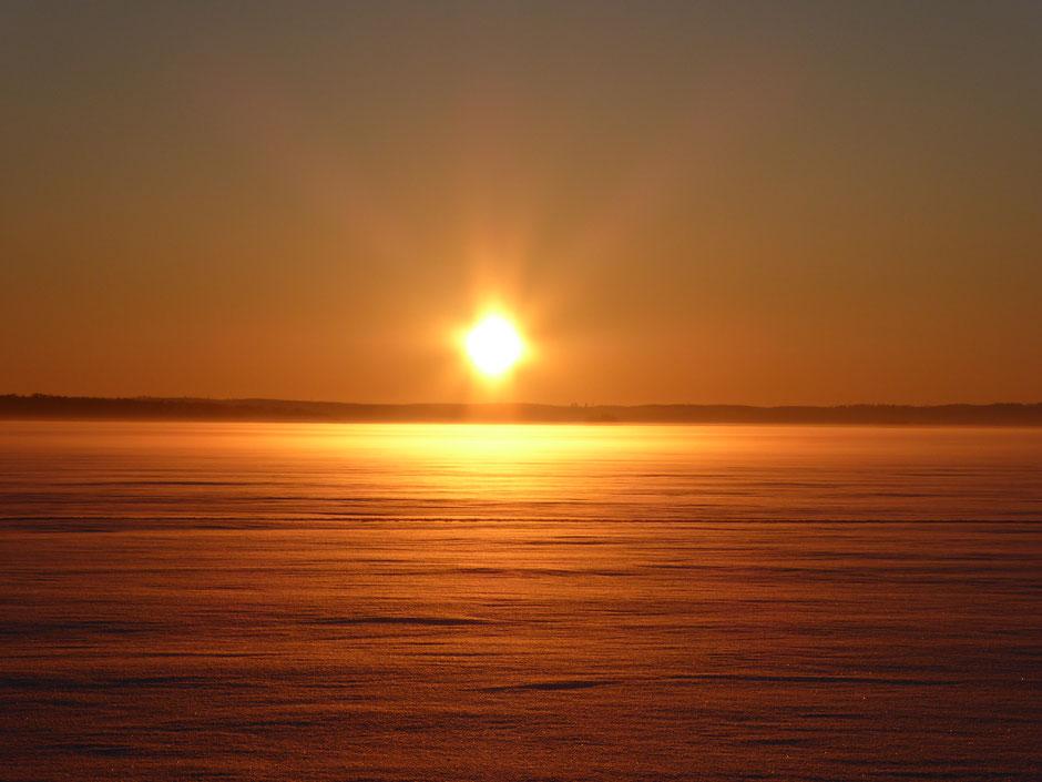 Wintersonne Finnland