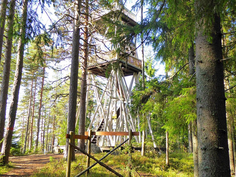 Aussichtsturm Panorama Seeblick Insel Päijätsalo Finnland