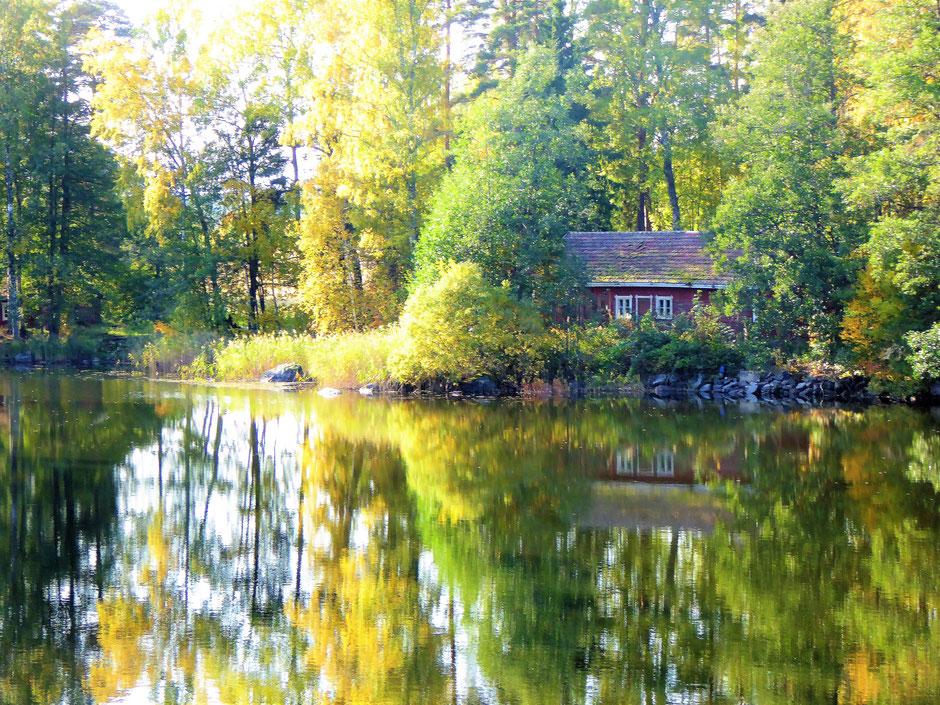 Fluss Tainionvirta Päijänne See