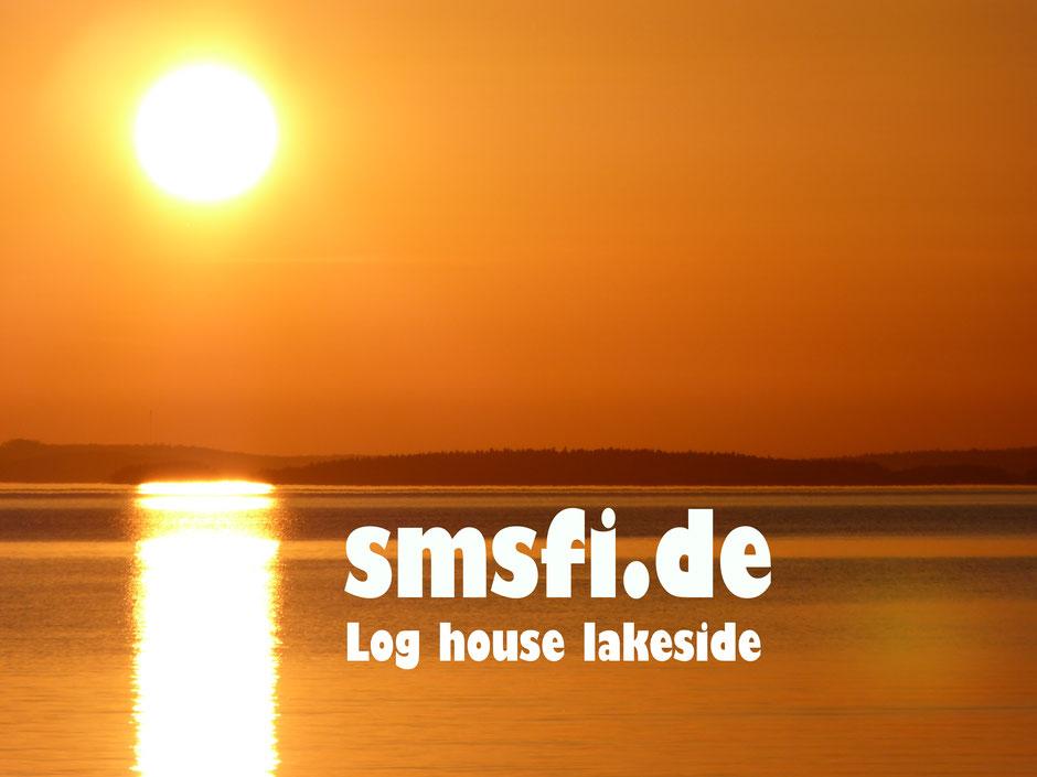 Goldener Sonnenuntergang am Päijänne See Finnland Ferienhaus Sunny Mökki Sysmä