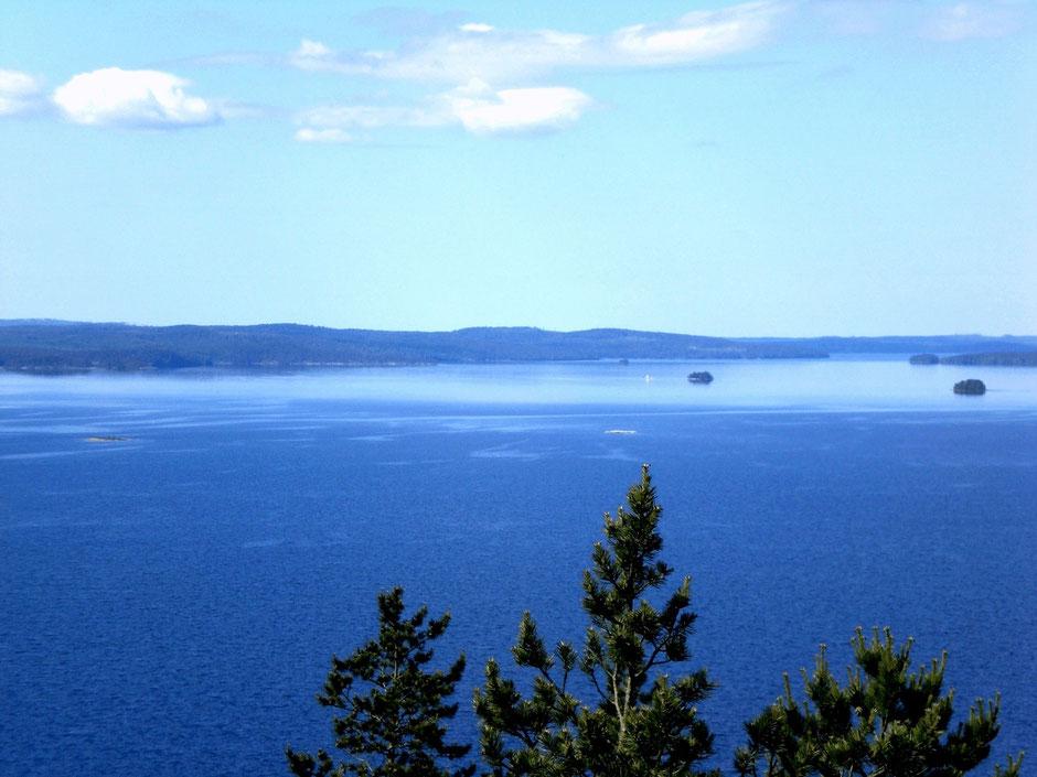Lake Päijänne Finland View from observation tower Sunny Mökki Sysmä