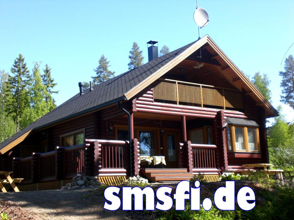 Blockhaus am See Finnland