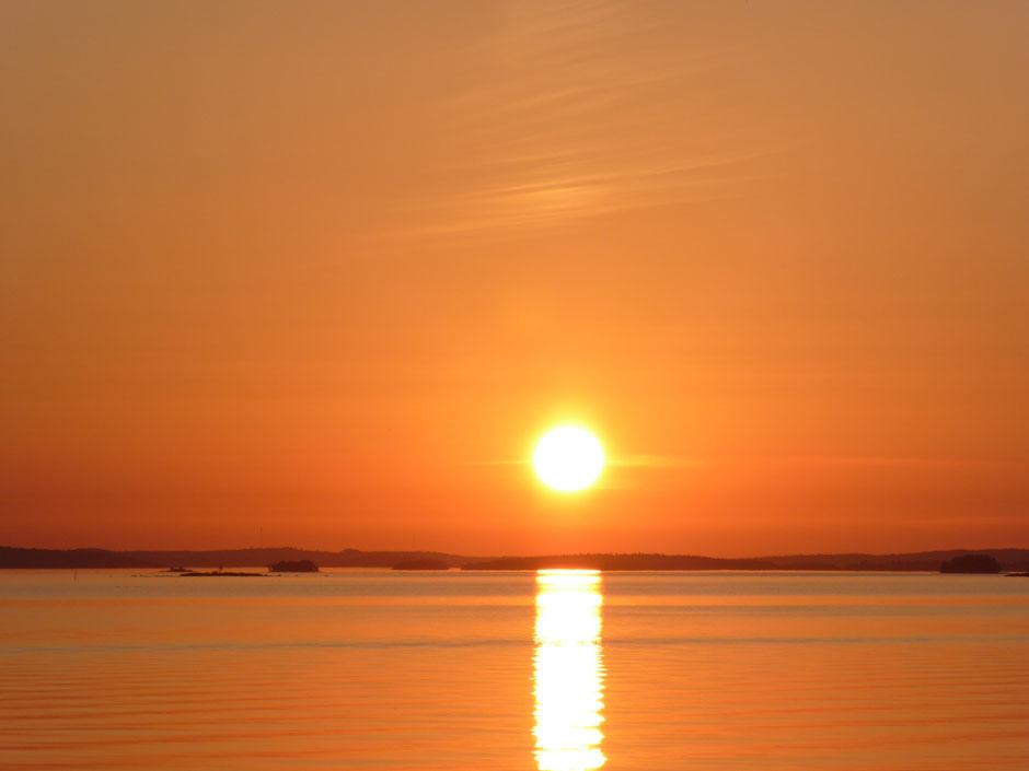 Sonnenuntergang am Päijänne See