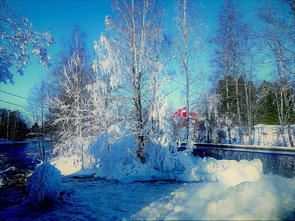 Winterlandschaft Finnland Sysmä