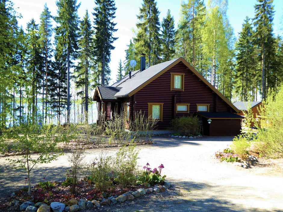 Ferienhaus am See Finnland Frühling