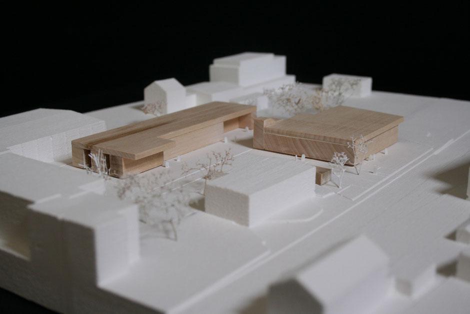 Modellfoto:  1. Preis Höfler & Stoll Architekten, Heitersheim