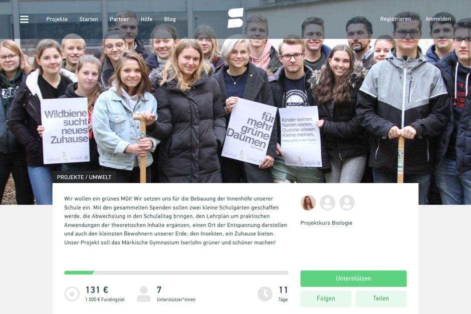 grünes MGI Crowdfunding