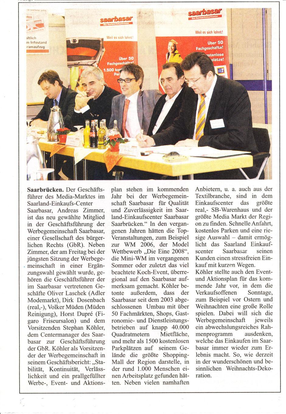 BLOG, Werbegemeinschaft Saarbasar, Geschäftsführer Volker Müden