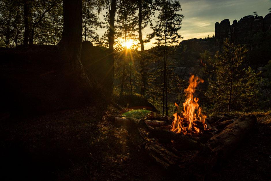 Abendstimmung im Elbsandsteingebirge