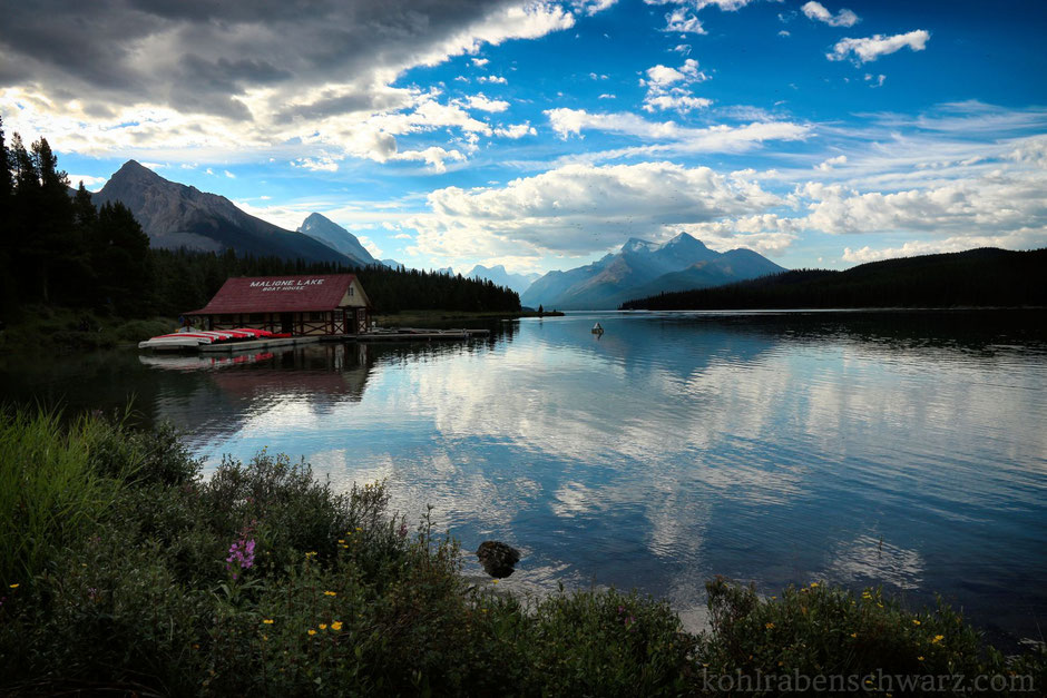 Der Maligne Lake im Jasper Nationalpark