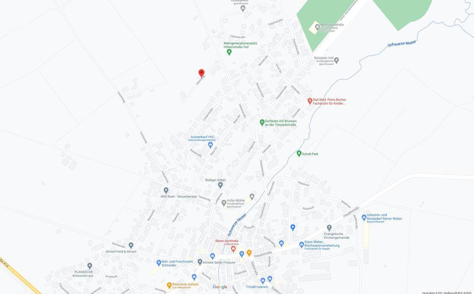 Ortsgemeinde Hof im Westerwald (Quelle: Google Maps)