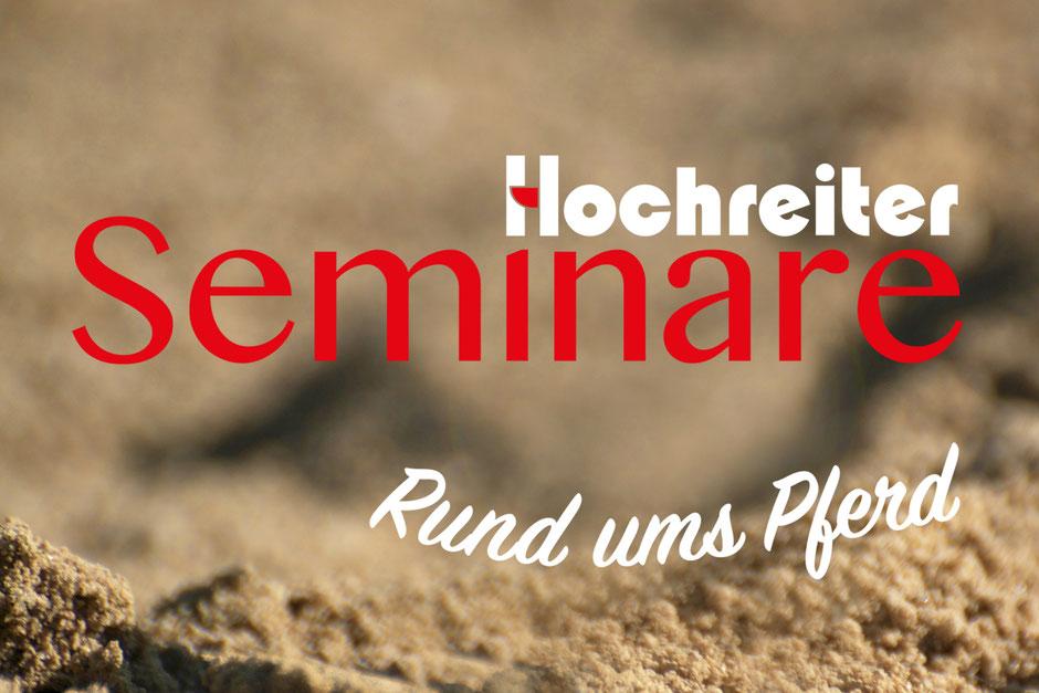 Logo Hochreiter Seminare. Unter dem Label Hochreiter Seminare organisieren Reini Hochreiter und Maria Appenzeller ab 2019 Seminare im Pferdesportbereich.