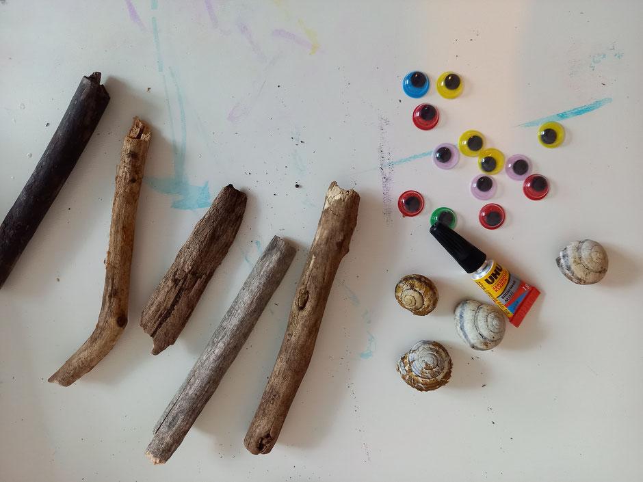 Holz Schnecken Kleber Bastelmaterialien