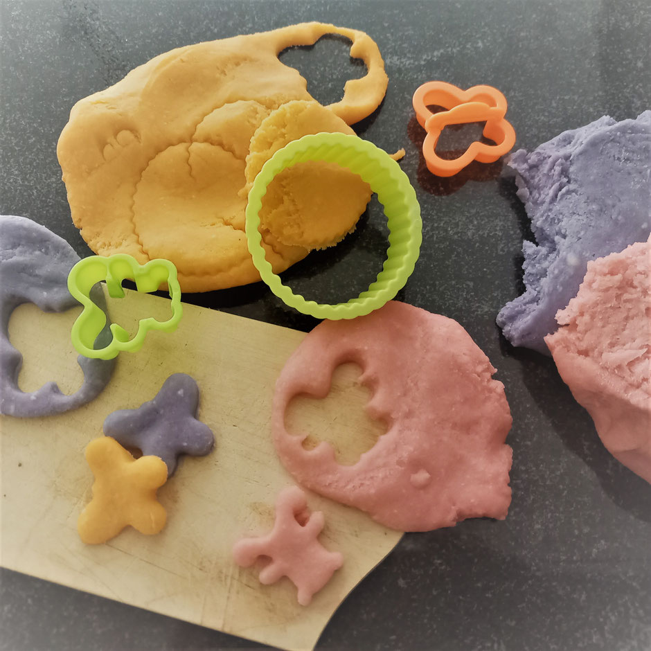 Knete Kreativ Förmchen Plätzchen Knete für Babys selbstgemacht