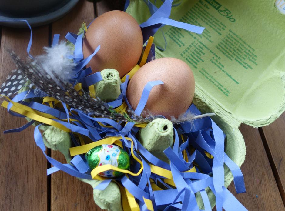 Ostern Osternest Osterei Ostergras Eier