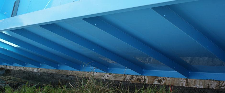 Pool-Außenwandstabilisatoren - Abstand 60cm - je 3 Bohrlöcher Dm8mm für Armierungszwecke