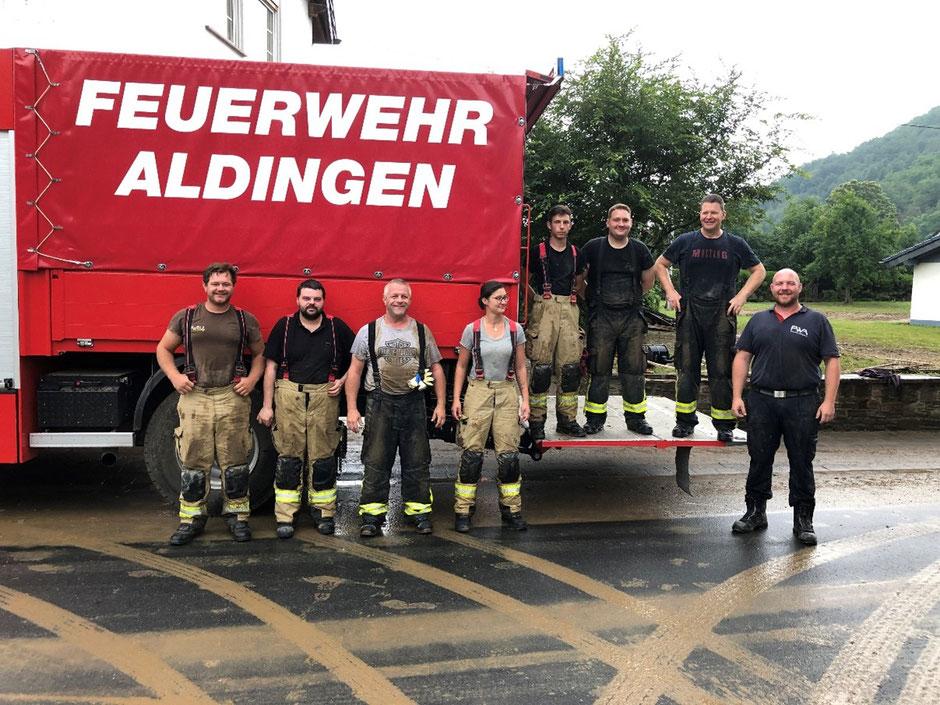 Quellen: Text Presseabteilung Feuerwehr Aldingen, Bilder Feuerwehr Aldingen, Piktogramme Nina und Katwarn offiziell