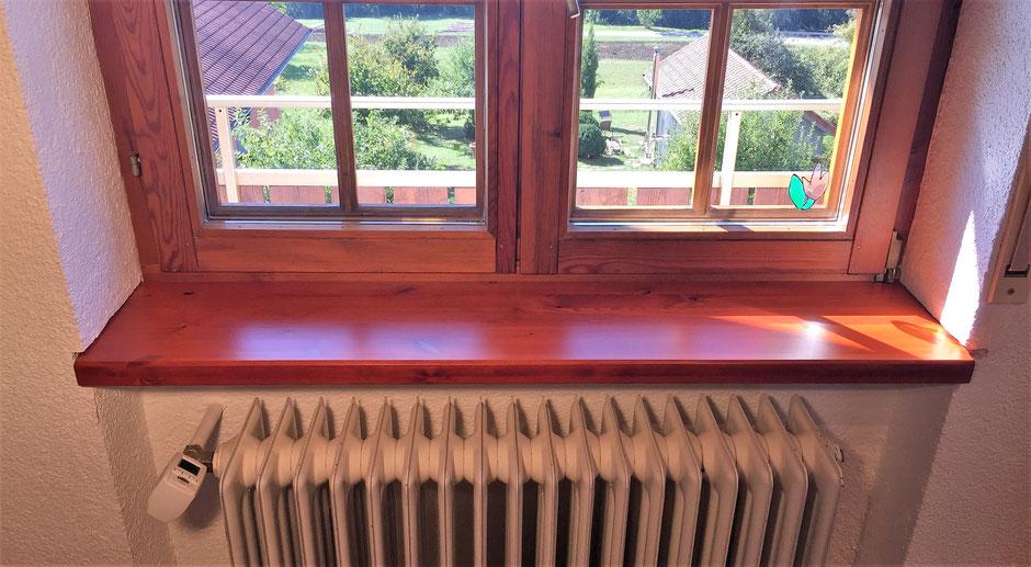 Holzfensterbank aufkleben Gesamtansicht neu