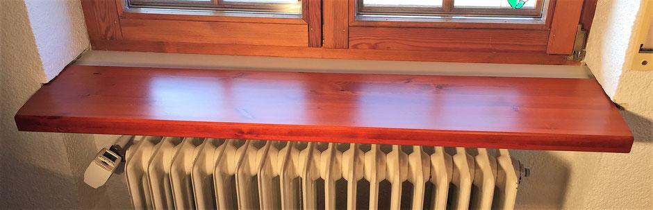 Holzfensterbank aufkleben Ansicht neu