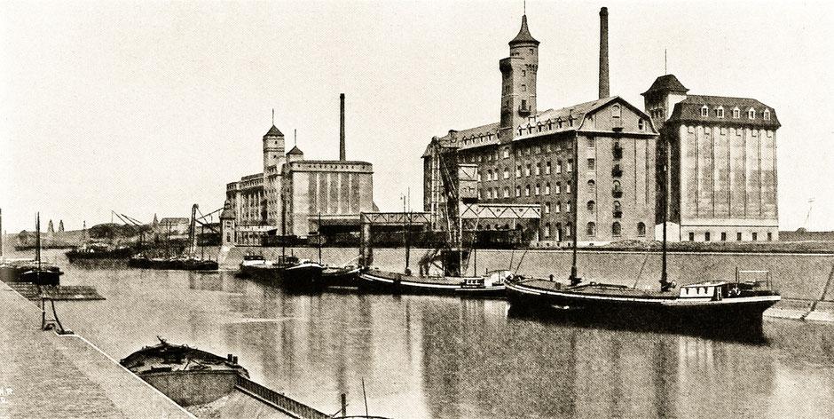 Abbildung aus »Der Cölner Rhein- und Seehafen. Führer durch die links- und rechtsrheinischen Hafen- und Werftanlagen der Stadt Cöln mit einem amtlichen Plane und Bildern nach photographischen Aufnahmen.« Köln 1911