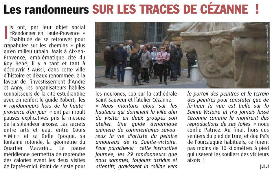 """Haute-Provence-Info -- 16 au 22 mars 2018 -- Sortie """"Patrimoine"""" à Aix-en-Provence"""