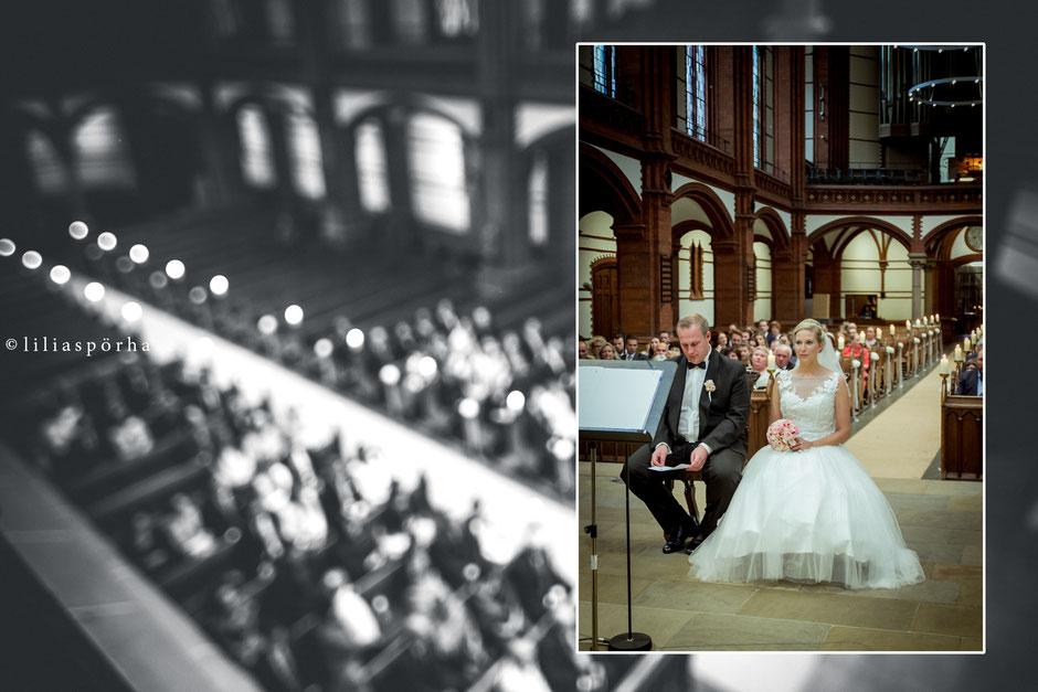 St. Gertrud Kirche, Hamburg, Hochzeit, liliaspoerhase, Fotografie, Lilia Spörhase, Sankt Gertrud, Uhlenhorst, Brautpaar