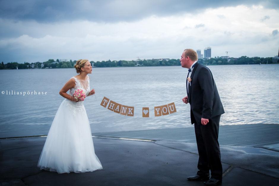 Brautpaar, Thank You, Danke, Hochzeit, liliaspoerhase, Lilia Spörhase, Fotografie, Hamburg
