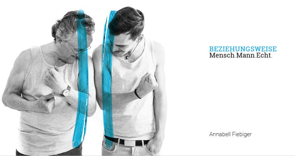 """In dem Ausstellungsprojekt """"ungeschminkt – Mensch.Mann.Echt"""" portraitiert die Fotografin die unterschiedlichen Beziehungen zueinander stehen."""