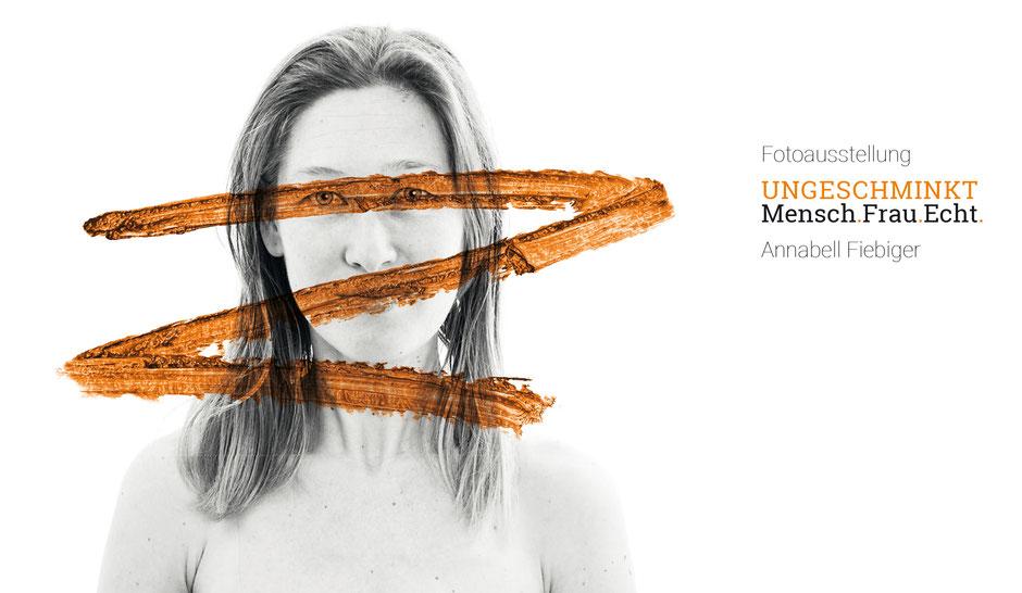 """In dem Ausstellungsprojekt """"ungeschminkt – Mensch.Frau.Echt"""" portraitiert die Fotografin und Make-up-Artistin Annabell Fiebiger Frauen, die auf ganz einfache und würdevolle Art ihre Persönlichkeit zeigen.   Für Annabell Fiebiger spielt es keine Rolle, wo"""