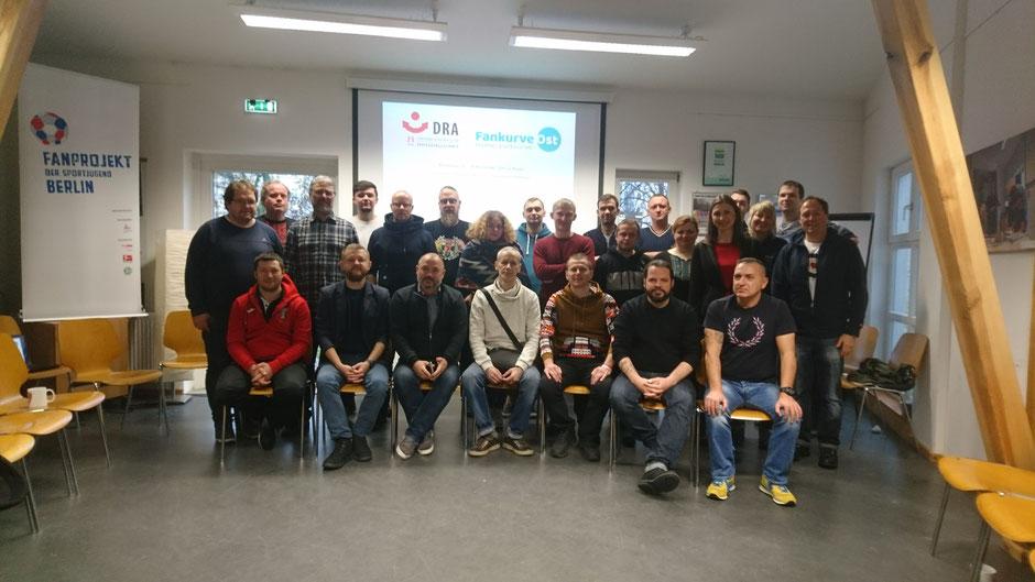 Die Teilnehmer und Teilnehmerinnen unseres Workshops.