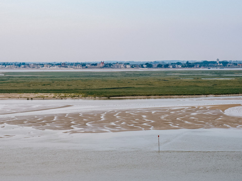 View on the Bay de Somme and on Le Crotoy from the Porte Jeanne d'Arc