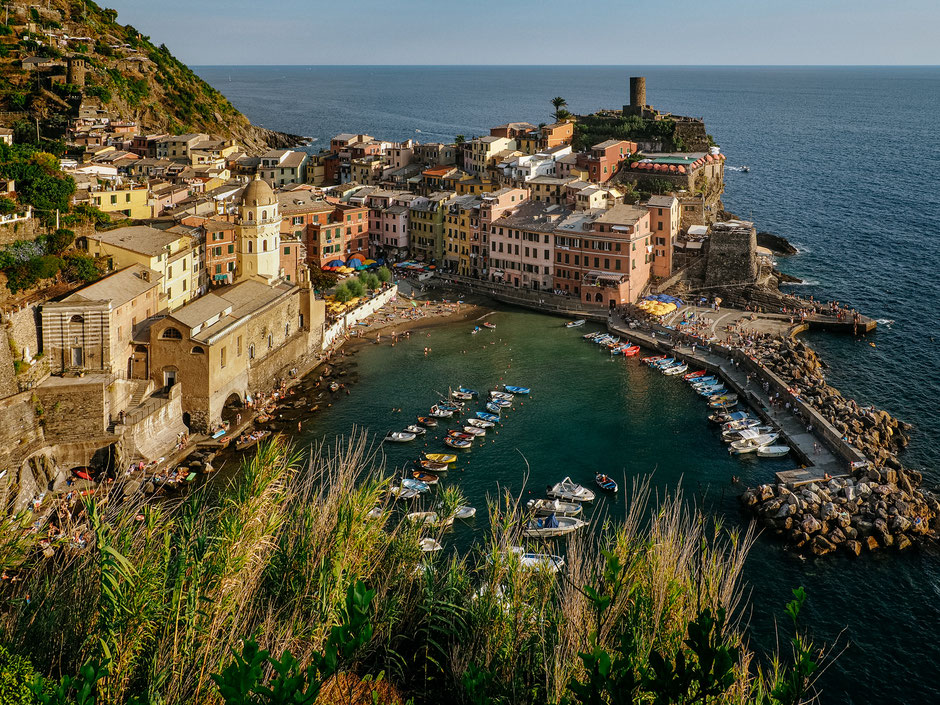 The iconic view of Vernazza