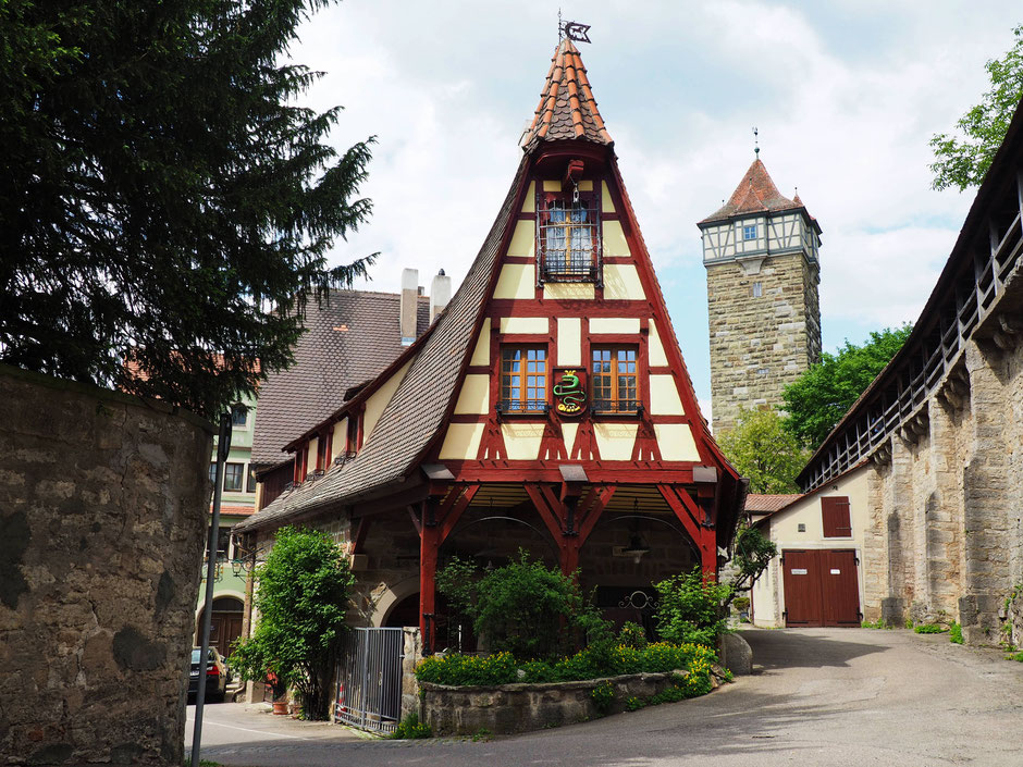 The iconic house of the Fachwerkhaus Gerlachschmiede