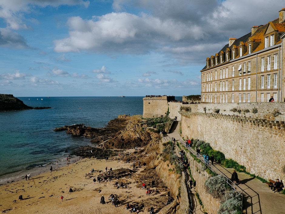 Ramparts, Bastion de la Hollande, Saint-Malo, Bretagne, Brittany