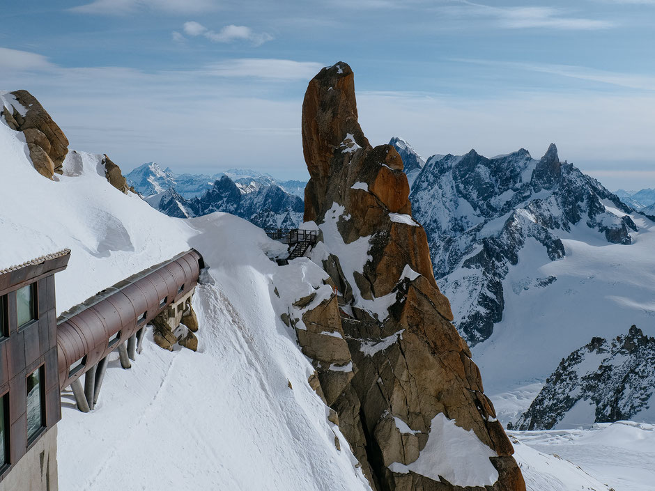 The Pipe, Le Tube, Aiguille du Midi, Chamonix (French Alps, Alpes françaises)