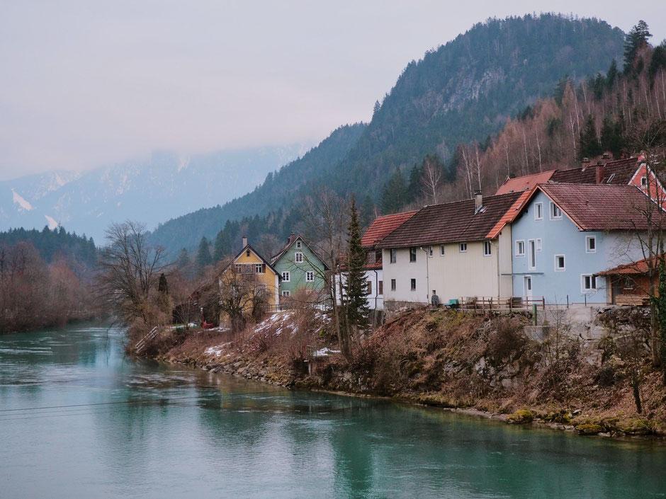 Lech river in Füssen (Bavaria)
