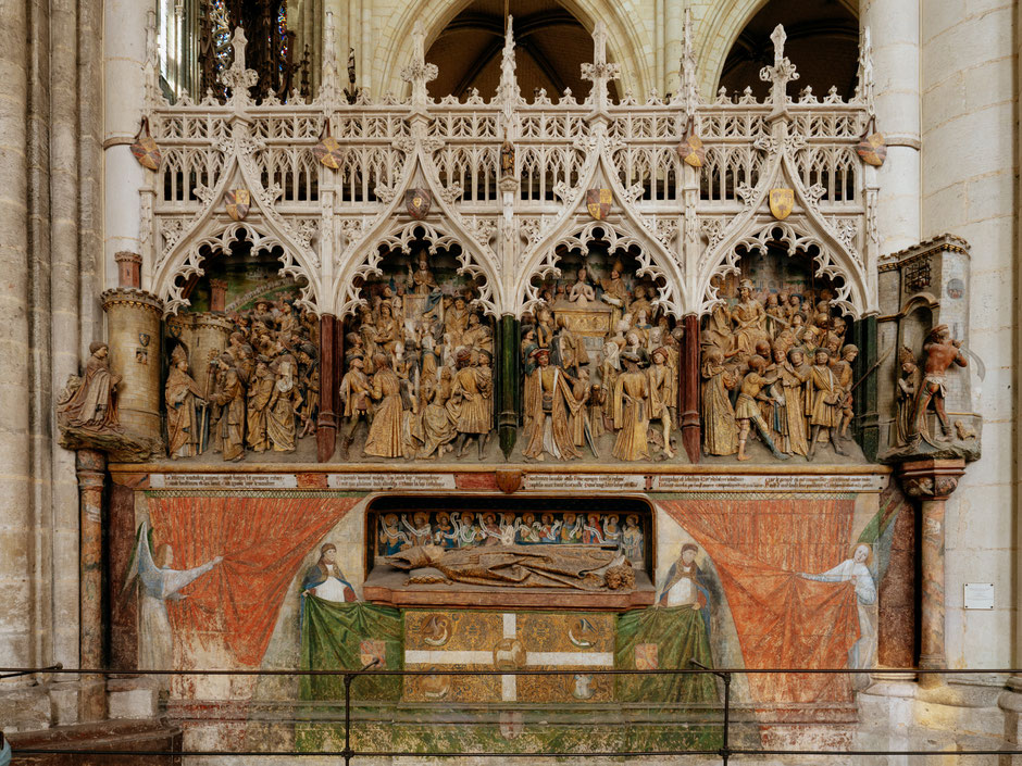 Scenes from the life of St. Firmin and the tomb of Bishop Ferry de Beauvoir (1490–1530)