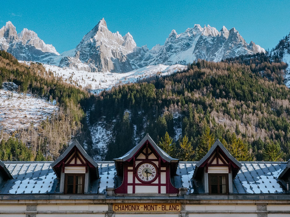 Gare SNCF in Chamonix (French Alps, Alpes françaises)