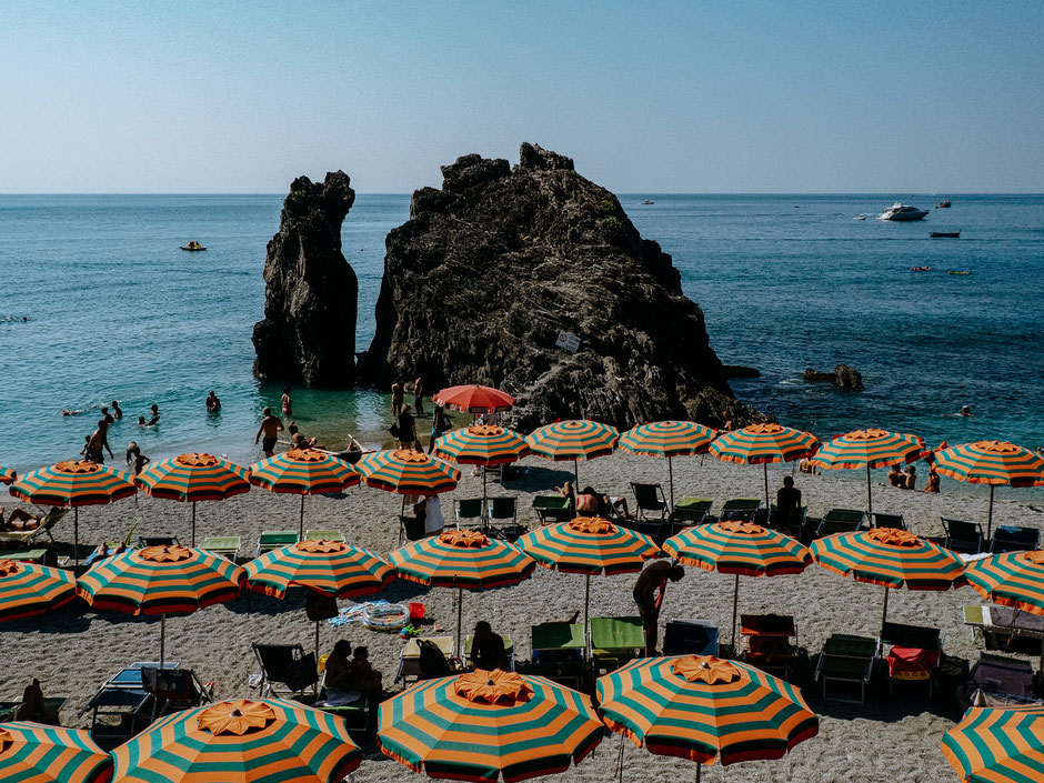 Monterosso - The only long sandy beach in Cinque Terre