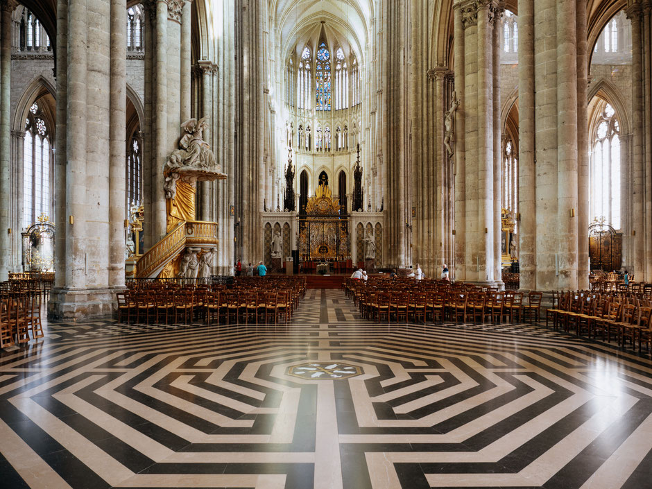 Labyrinthe, Labyrinth, Cathédrale d'Amiens, Cathedral of Amiens, Picardie