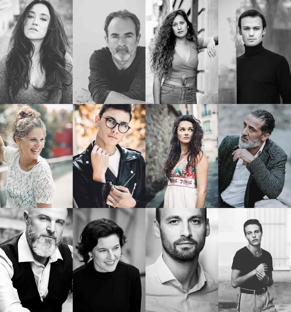 portrait en lumiére naturelle de comédiens et corporate dans les rues de paris