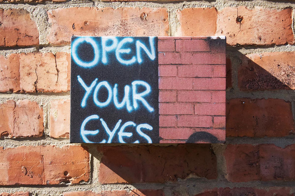 open your eyes graffiti canvas photo print wall decor
