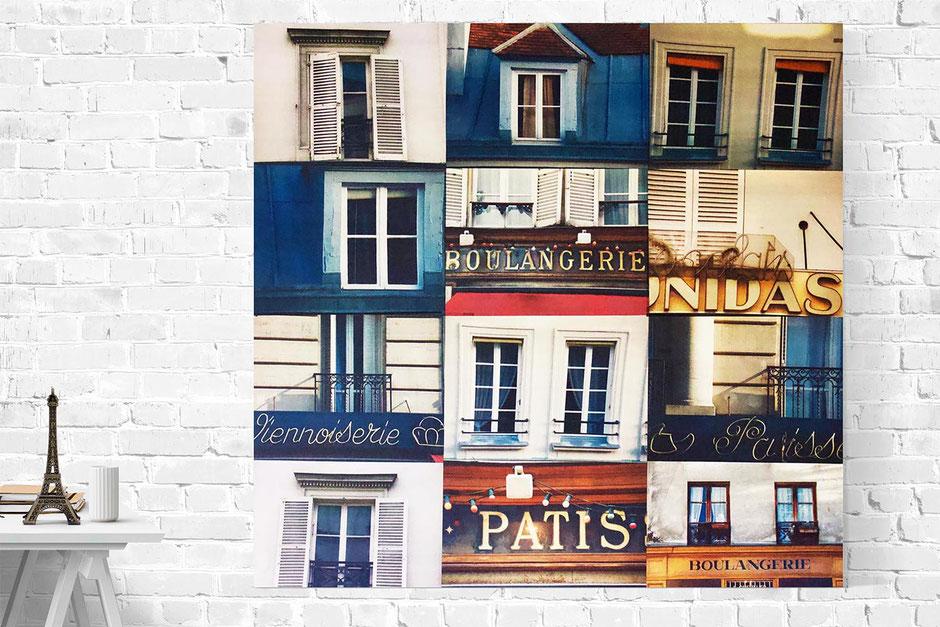 paris interior wall decor photo montage canvas