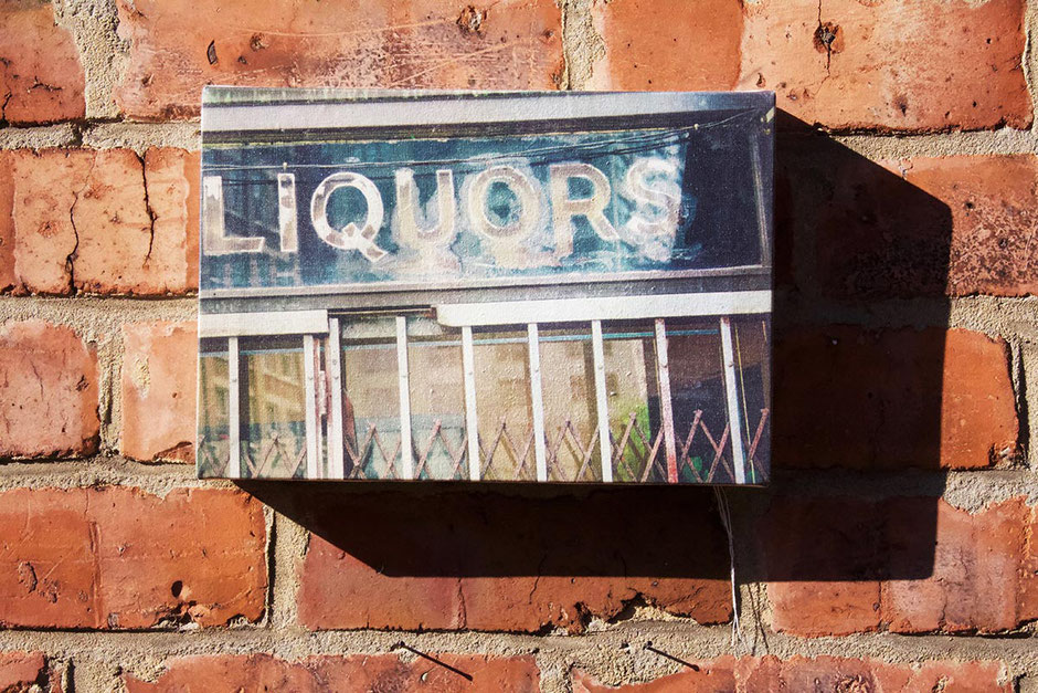 liquors canvas wall print new york city shop sign interior kitchen bar wall decor drink wine lover gift